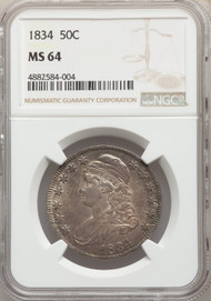 1834 50c Capped Bust Half Dollar NGC MS64
