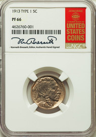 1913 Type 1 5c Buffalo Nickel NGC PF66