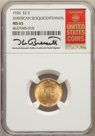 1926 $2.5 Gold Sesquicentennial Commemorative NGC MS65 - 730747001