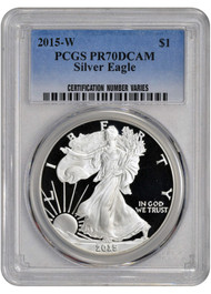 2015-W American Silver Eagle Proof - PCGS PR70 DCAM
