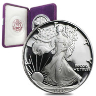 1986-S American Silver Eagle Proof (OGP & Papers)
