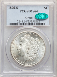 1896-S S$1 Morgan Dollar PCGS MS64 CAC