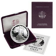 1990-S American Silver Eagle Proof (OGP & Papers)