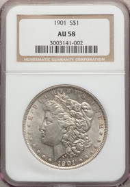 1901 S$1 Morgan Dollar NGC AU58 - 295122023
