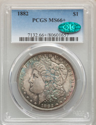 1882 S$1 Morgan Dollar PCGS MS66+ CAC