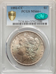 1882-CC S$1 Morgan Dollar PCGS MS66+ CAC