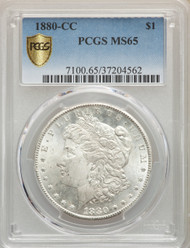 1880-CC S$1 Morgan Dollar PCGS MS65 - 512373192