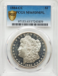 1884-CC S$1 Morgan Dollar PCGS MS65DMPL
