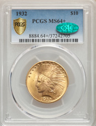 1932 $10 Gold Indian PCGS MS64+ CAC - 739869016