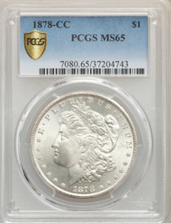 1878-CC S$1 Morgan Dollar PCGS MS65 - 739909004