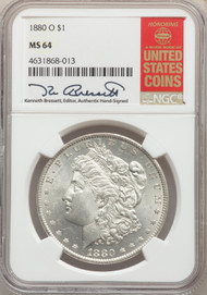 1880-O S$1 Morgan Dollar NGC MS64 - 739855008