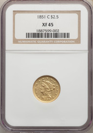 1851-C $2.5 Gold Liberty NGC XF45