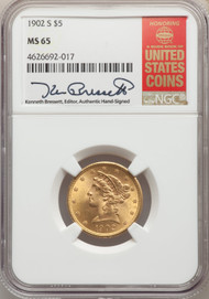 1902-S $5 Gold Liberty NGC MS65 - 740337073