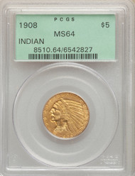 1908 $5 Gold Indian PCGS MS64 - 740426022