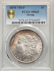 1878 7/8TF S$1 Morgan Dollar PCGS MS65 Strong