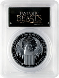2017 $5 Cook Isles Fantastic Beasts 1 oz. .999 Black Silver Proof PCGS PR70DCAM First Strike