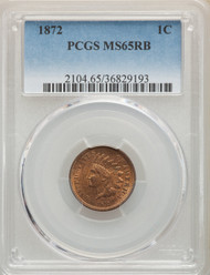 1872 1c Indian Head Cent PCGS MS65RB