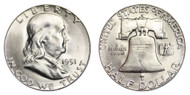 1951-S Franklin Half Dollar Brilliant Uncirculated- BU