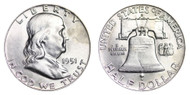 1951-D Franklin Half Dollar Brilliant Uncirculated- BU