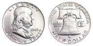 1949-P Franklin Half Dollar Brilliant Uncirculated- BU