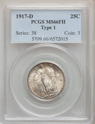 1917-D 25c Standing Liberty Quarter PCGS MS66+FH Type 1