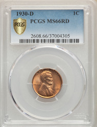 1930-D 1c Lincoln Cent PCGS MS66RD