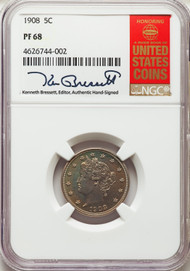 1908 5c Liberty Head Nickel NGC PF68