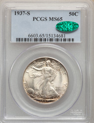 1937-S 50c Walking Liberty Half Dollar PCGS MS65 CAC