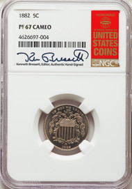 1882 5c Shield Nickel NGC PF67 CAMEO - 740337097