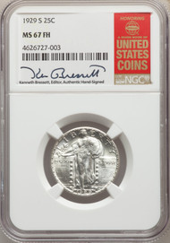 1929-S 25c Standing Liberty Quarter NGC MS67FH