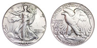 1945-D Walking Liberty Half Dollar Brilliant Uncirculated - BU