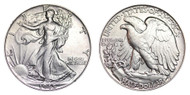 1945-P Walking Liberty Half Dollar Brilliant Uncirculated - BU