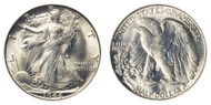 1944-S Walking Liberty Half Dollar Brilliant Uncirculated - BU