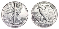 1942-D Walking Liberty Half Dollar Brilliant Uncirculated - BU