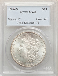 1896-S S$1 Morgan Dollar PCGS MS64 - 741357051