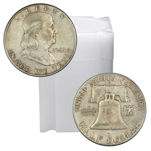 BU 20 Coins 1963-D Franklin Half Dollar Roll Brilliant Uncirculated