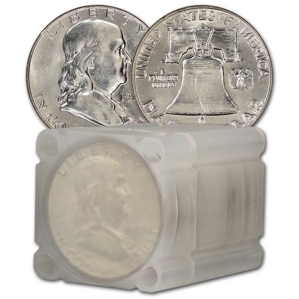 1963-D Franklin Half Dollar Roll Brilliant Uncirculated - BU (20 Coins)
