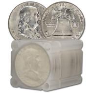 1963 Franklin Half Dollar Roll Brilliant Uncirculated - BU (20 Coins)