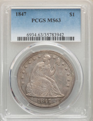 1847 S$1 Seated Liberty Dollar PCGS MS63