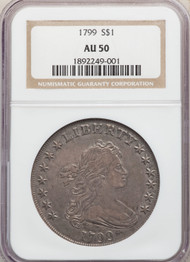 1799 S$1 Draped Bust Dollar NGC AU50