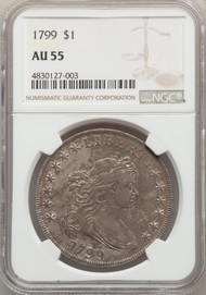 1799 S$1 Draped Bust Dollar NGC AU55