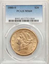 1880-S $20 Gold Liberty PCGS MS60