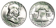 1955-P Franklin Half Dollar Brilliant Uncirculated - BU