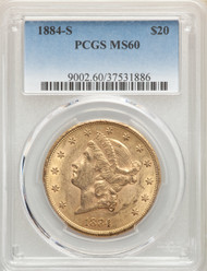1884-S $20 Gold Liberty PCGS MS60