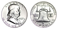 1957-D Franklin Half Dollar Brilliant Uncirculated - BU