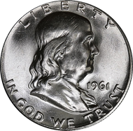 1961-P Franklin Half Dollar Brilliant Uncirculated - BU