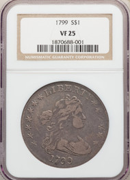 1799 S$1 Draped Bust Dollar NGC VF25
