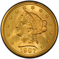 $2.5 Gold Liberty Brilliant Uncirculated - Mixed Dates