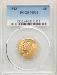 1913 $5 Gold Indian PCGS MS64 - 741414043