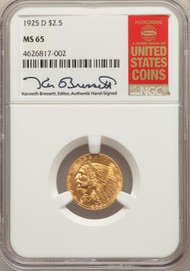 1925-D $2.5 Gold Indian NGC MS65 - 291959027